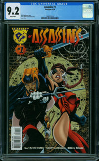 Assassins #1 (DC, 1996) CGC NM- 9.2 WHITE pages