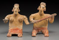 Pre-Columbian:Ceramics, A Male/Female Pair of Jalisco Figures... (Total: 2 Items)