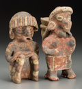 Pre-Columbian:Ceramics, Two Nayarit Figures... (Total: 2 Items)