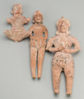 Pre-Columbian:Ceramics, Three Autlan Colima Figures... (Total: 3 Items)