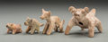 Pre-Columbian:Ceramics, Four West Mexico Dog Form Whistles... (Total: 4 Items)