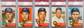 Baseball Cards:Lots, 1953 Topps Baseball PSA NM-MT 8 High Number Collection (5). ...