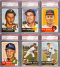 Baseball Cards:Lots, 1953 Topps Baseball PSA NM-MT 8 High Number Collection (6). ...