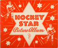 """Hockey Cards:Unopened Packs/Display Boxes, Very Rare 1933-34 O-Pee-Chee """"Hockey Star Picture Album."""" ..."""