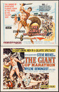"Movie Posters:Adventure, The Giant of Marathon & Other Lot (MGM, 1960). Half Sheets (2)(22"" X 28""). Adventure.. ... (Total: 2 Items)"