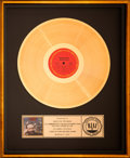 "Music Memorabilia:Awards, Marvin Gaye ""Midnight Love"" RIAA Gold Record Sales Award Presented to Marilyn Freeman (1982)...."