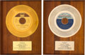 Music Memorabilia:Awards, Stevie Wonder and Diana Ross and the Supremes-Related In-HouseAwards Presented to Harvey Fuqua (1969).... (Total: 2 Items)