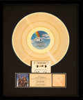 """Movie/TV Memorabilia:Awards, A Gold Record Award from """"Ghostbusters II.""""..."""