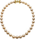 Estate Jewelry:Necklaces, Colored Diamond, Diamond, Golden South Sea Cultured Pearl, GoldNecklace, Kurt Wayne. ...