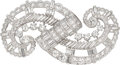 Estate Jewelry:Brooches - Pins, Diamond, Platinum Double-Clip-Brooch, Tiffany & Co.. ...