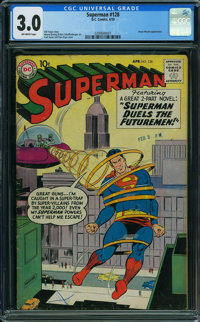 Superman #128 (DC, 1959) CGC GD/VG 3.0 OFF-WHITE pages