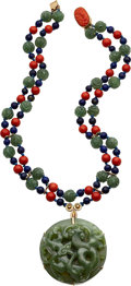 Estate Jewelry:Necklaces, Multi-Stone, Gold Necklace, Van Cleef & Arpels. ...