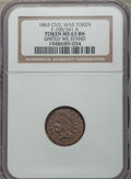 Civil War Patriotics, 1863 United We Stand MS63 Brown NGC, Fuld-100/341a; 1863Shakespeare Club, Baltimore, MD, AU50 NGC, Fuld-60B-1b; 1863 I.B.Cou... (Total: 3 tokens)