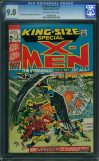X-Men Annual #2 (Marvel, 1971) CGC VF/NM 9.0 OFF-WHITE TO WHITE pages
