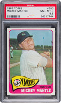 Baseball Cards:Singles (1960-1969), 1965 Topps Mickey Mantle #350 PSA NM-MT+ 8.5....