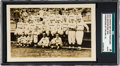 Baseball Cards:Singles (1950-1959), Rare 1912 Photo Art Shop Boston Red Sox RPPC SGC Authentic - WithTie Game Message! ...