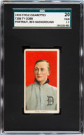 Baseball Cards:Singles (Pre-1930), 1909-11 T206 Cycle 350 Ty Cobb (Red Portrait) SGC 20 Fair 1.5....