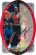 Basketball Cards:Singles (1980-Now), 1996 SPx Signed Record Breaker Michael Jordan #R1 - Upper Deck Authenticated #161/250. ...