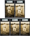 Baseball Cards:Singles (Pre-1930), 1908-11 PC743 Bregstone Roger Bresnahan SGC 60 EX 5 Collection (5)....