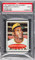 Baseball Cards:Singles (1970-Now), 1971 Bazooka Roberto Clemente (No Number) PSA Mint 9....