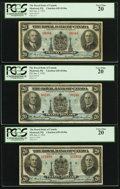 Canadian Currency: , Montreal, PQ- Royal Bank of Canada $20 Jan. 2, 1935 Ch. #630-18-06a.. ... (Total: 3 notes)