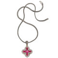 Estate Jewelry:Necklaces, Pink Topaz, Diamond, Gold, Sterling Silver Necklace, John Hardy. ...