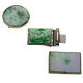 Estate Jewelry:Other, Jade, Metal Belt Buckles . ... (Total: 3 Items)