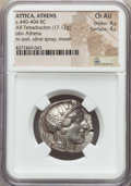 Ancients:Greek, Ancients: ATTICA. Athens. Ca. 440-404 BC. AR tetradrachm (17.17gm). NGC Choice AU 4/5 - 4/5....
