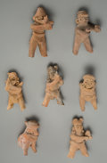Pre-Columbian:Ceramics, Seven Colima Figural Whistles... (Total: 7 Items)