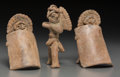 Pre-Columbian:Ceramics, Three Colima Warrior Whistle Figures... (Total: 3 Items)