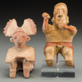 Pre-Columbian:Ceramics, Two West Mexican Figures... (Total: 2 Items)