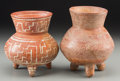 Pre-Columbian:Ceramics, Two Mixtec Tripod Vases... (Total: 2 Items)