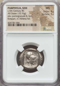 Ancients:Greek, Ancients: PAMPHYLIA. Side. Ca. 460-430 BC. AR stater (10.76 gm).NGC MS 4/5 - 5/5....