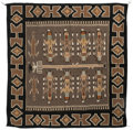 American Indian Art:Weavings, A Mexican Sand Painting Rug. ...