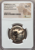 Ancients:Greek, Ancients: PAMPHYLIA. Side. Ca. 205-100 BC. AR tetradrachm. NGCChoice Fine....