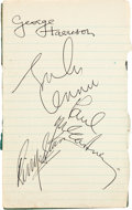 Music Memorabilia:Autographs and Signed Items, . The Beatles Autographs from the All You Need Is Lovesessions (1967). . ...
