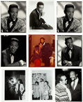 Music Memorabilia:Photos, Marvin Gaye Large Collection of Assorted Black and WhitePhotographs (1960s-1980s)....
