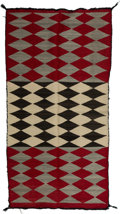 American Indian Art:Weavings, A Navajo Double Saddle Blanket. c. 1940. ...