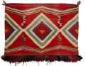 American Indian Art:Weavings, A Navajo Germantown Sunday Saddle Blanket. c. 1890...