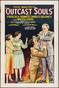 """Outcast Souls (Sterling Pictures, 1928). One Sheet (27"""" X 41"""") Style B. Drama"""