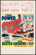 "Movie Posters:War, Crash Dive (20th Century Fox, 1943). Window Card (14"" X 22""). War....."