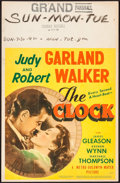 "Movie Posters:Romance, The Clock (MGM, 1945). Window Card (14"" X 22""). Romance.. ..."