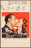 """Movie Posters:Drama, Confidential Agent (Warner Brothers, 1945). Window Card (14"""" X22""""). Drama.. ..."""