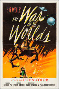 "The War of the Worlds (Paramount, 1953). One Sheet (27"" X 41""). Science Fiction"