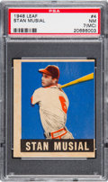 Baseball Cards:Singles (1940-1949), 1948 Leaf Stan Musial #4 PSA NM 7 (MC)....