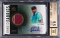 Golf Cards:General, 2012 SP Game Used Inked Fabrics Tiger Woods #IF-TW BGS Gem Mint 9.5, Beckett 10 Autograph....