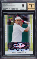 Olympic Cards:General, 2013 Ace Authentic Yellow Roger Federer #BA-RF1 BGS Mint 9, Mint 9Autograph - #07/10. ...