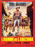 """Movie Posters:Western, The Tall T & Other Lot (Etoile, R-Late 1960s). French Grandes (2) (45.5"""" X 61.5"""" & 45.5"""" X 61""""). Western.. ..."""