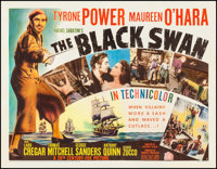 "The Black Swan (20th Century Fox, 1942). Half Sheet (22"" X 28"") Style A. Adventure"