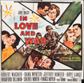 "Movie Posters:War, In Love and War (20th Century Fox, 1958). Six Sheet (77"" X 78"").War.. ..."